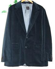 Hugo Boss Blue Shiny Men's Cotton Velvet Jacket Blazer Size US 44 R EU 54 $395