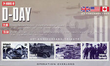 Antigua & Barbuda 2004 MNH WWII D-Day Operation Overlord 4v M/S II Tanks Stamps