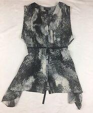 Women's Lanebryant Blouse 26/28 sleeveless multi black