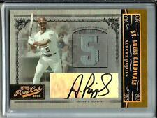 Albert Pujols 2005 Playoff Prime Cuts Autograph Game Used Jersey #04/10