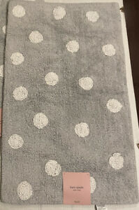 Kate Spade GRAY & WHITE Bath Rug Torrington  Polka Dot