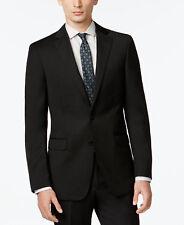 $875 CALVIN KLEIN Extreme Slim Fit Wool Sport Coat Black SUIT JACKET BLAZER 44 L