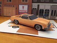 Papercraft Pontiac Grand Prix T-Top Paper Car EZU-build 1975 Toy Model Car