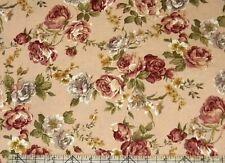 Fabri-Quilt Tudor Rose Med Rose Fabric