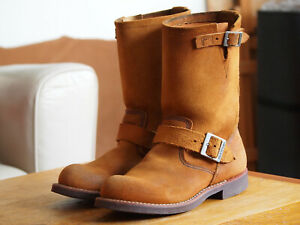 Red Wing 2992 engineer boots US 6.5 / EU 38.5 Burnt Orange suede leather USA