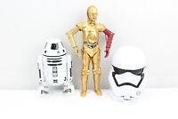 "Star Wars Lot of 3 Figures C-3PO 11"" Action Figure 2015 Hasbro C-3252B R2-D2"