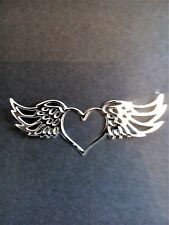 10 x Gold/Silver heart/angel wings,card toppers, die cut,  birthday, sympathy
