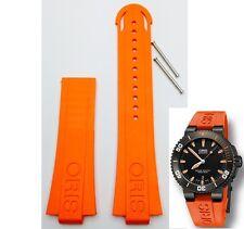 Genuine ORIS 733 7653 Aquis Depth Gauge ORANGE RUBBER band strap bracelet  42632