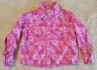 Cowgirl Hardware Pink Western Shirt Baby Girl sz 6 MO Pearl Snap Bling