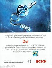 PUBLICITE ADVERTISING 016  2004  BOSCH  équipement voiture abs asr esp motronic