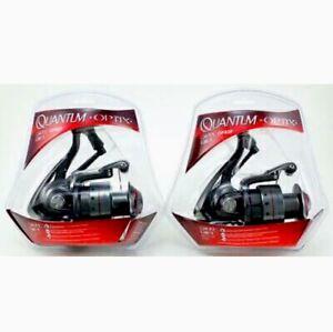 (Set Of 2) QUANTUM OPTIX OP40F Spinning Reels 4.7:1 3 Bearings - FREE SHIPPING!