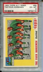 1955 Topps All-American Football #68 The Four Horsemen Card PSA Ex Mint 6