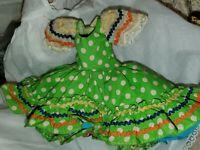 "Vintage Madame Alexander Brazil Doll ~tagged Dress For 7-8"" Doll w/ polka dots"