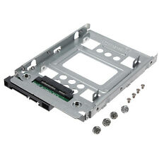 "NEW 2.5"" SSD to 3.5"" SATA Hard Disk Drive Adapter Caddy Tray Cage Hot Swap Plug"