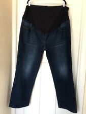 BNWT NEXT MATERNITY SLIM STRETCHY OVER BUMP JEANS SIZE 22R LENGTH 30 '' ♡♡♡