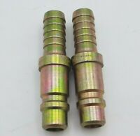 "2 PC Foster 60-5 Quick Coupler Plug Barb Air Water Fitting 1/2"" Body 1/2"" Hose"