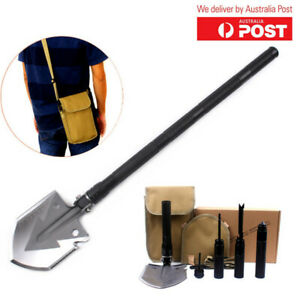 Folding Camping Shovel 6 In 1 Multi Functional Survival Tool For Outdoor (Black)