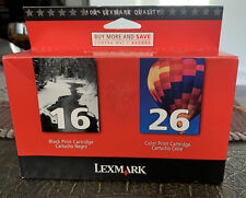 Lexmark 16 & 26 Combo Pack Black and Color Ink Cartridges -.
