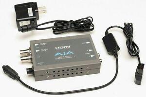 AJA Hi5-3G 3G/Dual Link/HD/SD-SDI to HDMI Mini-Converter-use w/ arri sony canon