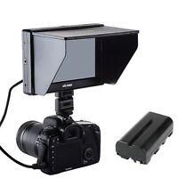7'' Viltrox HD TFT HDMI AV LCD Video Monitor for Canon Nikon DSLR + free battery