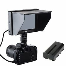 7'' Viltrox HD TFT HDMI AV LCD Video Monitor for Canon Nikon DSLR + free battery