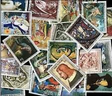 FRANCE lot 50 timbres TABLEAUX tous différents oblitéres