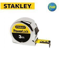 Stanley Powerlock Classic Chrome Pocket Tape Measure 3m 0-33-522 STA033522 DIY