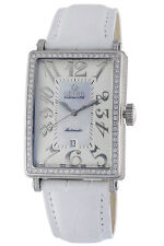 Gevril Women's 6209NV Glamour Automatic Diamond  MOP Dial Leather Date Watch