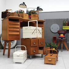 VINTAGE 1-8 X ART DECO À MID CENTURY MODERN SEWING BOX BOÎTE À OUVRAGE BAUHAUS