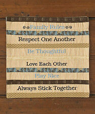 "Scrapbook 11"" Family Rules Square Mat or Wall Hanging"