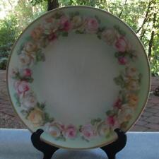 Fancy J & C, Hand-painted GHB Roses Garland Plate Bavaria