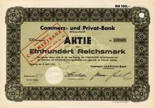 Lot 10 Commerz- und Privat - Bank Hamburg hist. Aktie 1932 Commerzbank Frankfurt