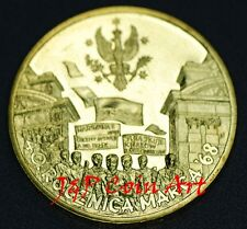 2008 Coin of Poland Polish 2zl 40th Anniversary of March 1968