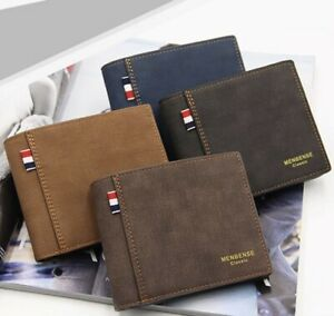 Luxury Mens Leather Wallet Soft Bifold RFID SAFE Contactless ID Protection