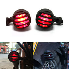 MOTORCYCLE BLACK GRILL TURN SIGNALS BRAKE STOP RUNNING TAIL LIGHTS RED LAMP US