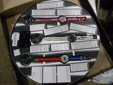 VINTAGE 1995 SWATCH WATCH 100 YRS CINEMA SPECIAL FILM CAN 3 WATCHES COMPLETE +++