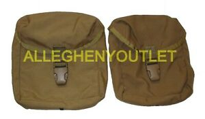 LOT of 2 USMC MOLLE INDIVIDUAL FIRST AID POUCH IFAK Coyote TAN BUCKLE VGC