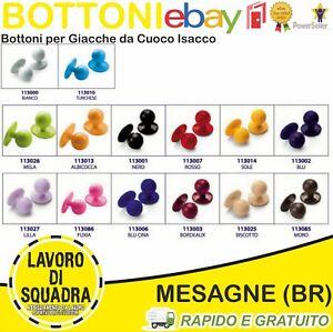 Set 10 pz Bottoni Isacco per Giacca da Cuoco 18 Colori Buttons JACKET CHEF Italy