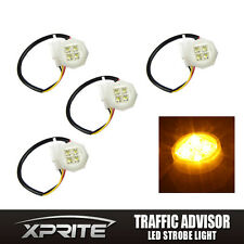 Xprite 180W 4PC LED Kit Hide-Away Flash Strobe Replacement Headlight Bulbs Amber