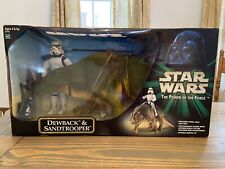 STAR WARS THE POWER OF THE FORCE DEWBACK & SANDTROOPER New Ships Quick & Free!