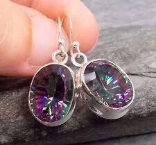 925 Silver MYSTIC TOPAZ Earrings E691~Silverwave*uk Jewellery