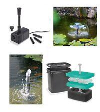 Solaire Pompe de cours d'eau boîte filtre bassin d'étang jardin NEUF