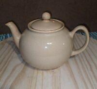 Vintage PRISTINE England  Ceramic Teapot Speckled Glaze (Almond) Made in England