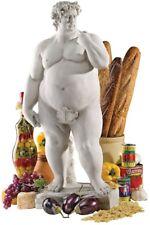 Large Plump Fat David w/Fig Leaf Garden Statue Sculpture Figurine Yard Ornament