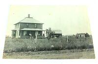 Antique RPPC POSTCARD A HOUSE ON A FARM Unused