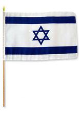 """12x18 12""""x18"""" оптовый лот из 12 (двенадцати) Израиль палка флаг деревянный персонал"""