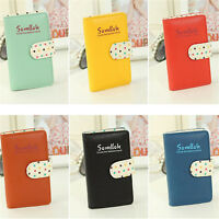 Women 20 Cards PU Leather Pocket Business ID Credit Card Holder Case Wallet ++++