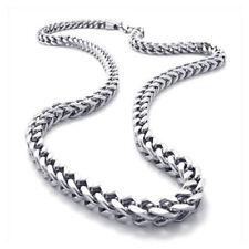 Edelstahl Biker Koenigskette Halskette Silber breite 6mm 55 Dkej