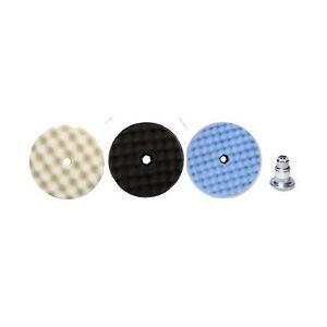"""3M Perfect-It Pak, 6"""" Foam Compounding, Polishing, Ultrafine Pads & QC Adapter"""