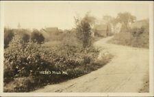 Webb's Webbs Mills ME Road & Bldgs c1915 Real Photo Postcard